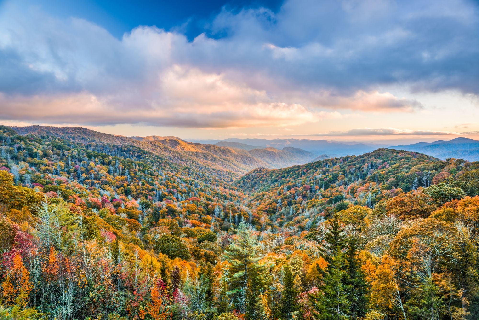 Smoky Mountains National Park view in fall
